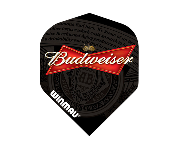 DARTS FLIGHT【 winmau 】Budweiser Mega Standard Flights Black