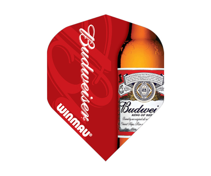DARTS FLIGHT【 winmau 】Budweiser Mega Standard Flights Red
