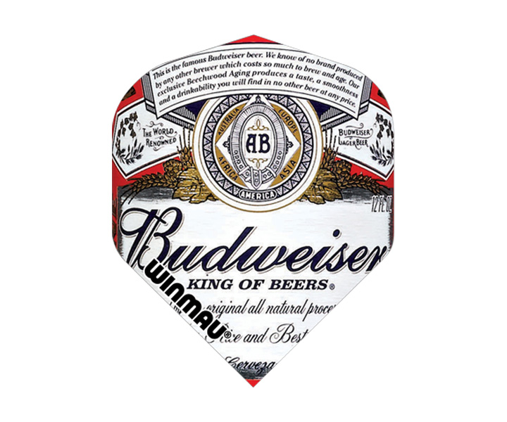 DARTS FLIGHT【 winmau 】Budweiser Mega Standard Flights White