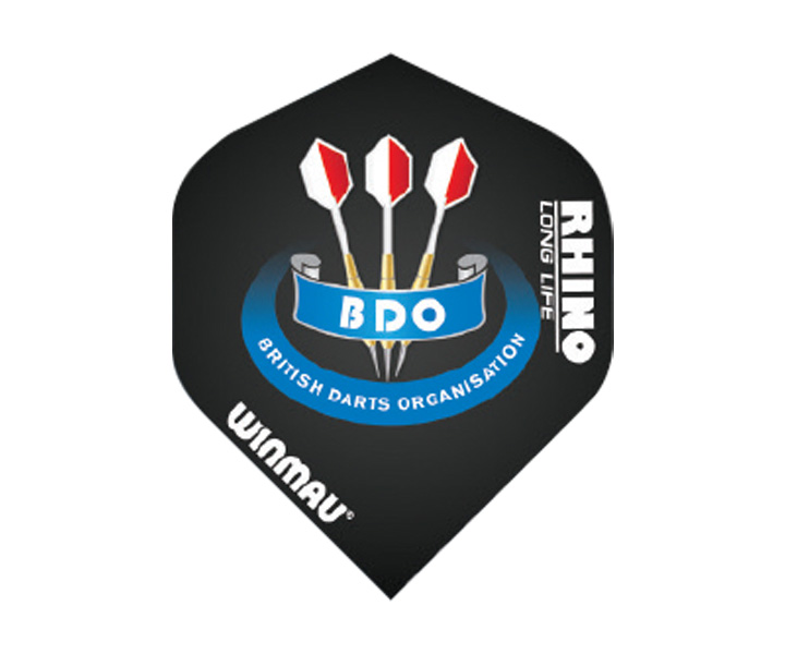 DARTS FLIGHT【 winmau 】Rhino Standard Extra Thick Flights BDO Black No.6905.152