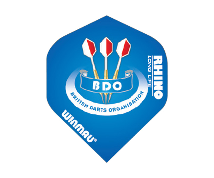 DARTS FLIGHT【 WINMAU 】Rhino Standard Extra Thick Flights BDO Blue No.6905.153