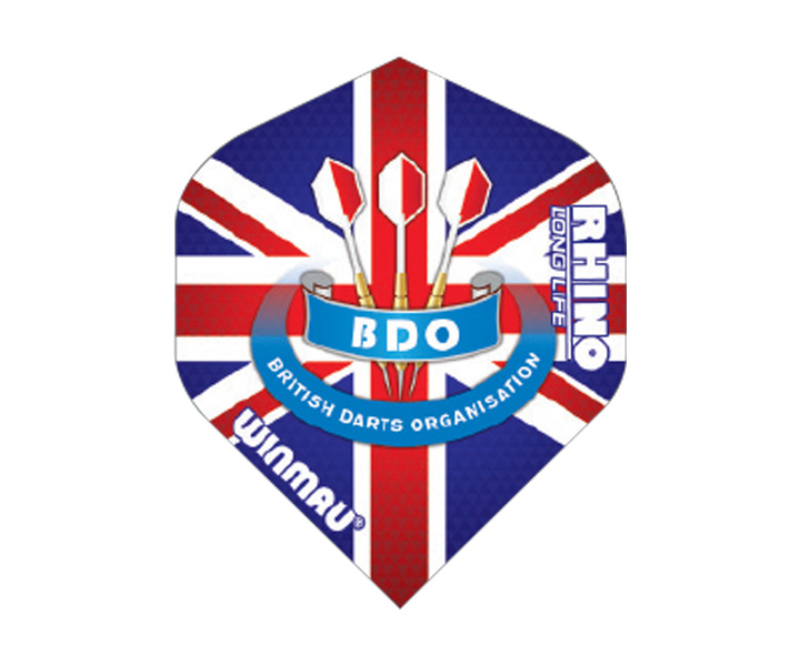 DARTS FLIGHT【 winmau 】Rhino Standard Extra Thick Flights BDO UnionJack No.6905.154