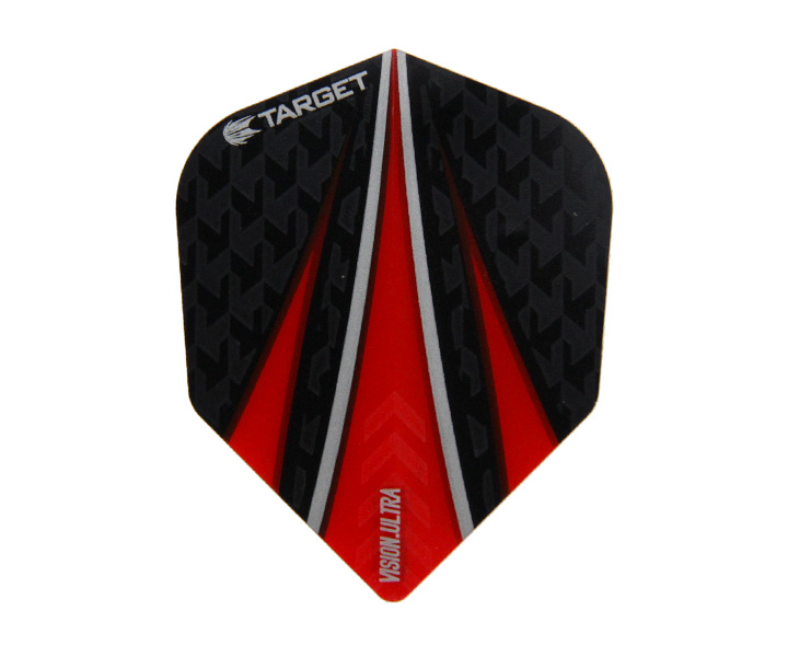 DARTS FLIGHT【 TARGET 】VISION ULTRA SHAPE Black x Red 331140