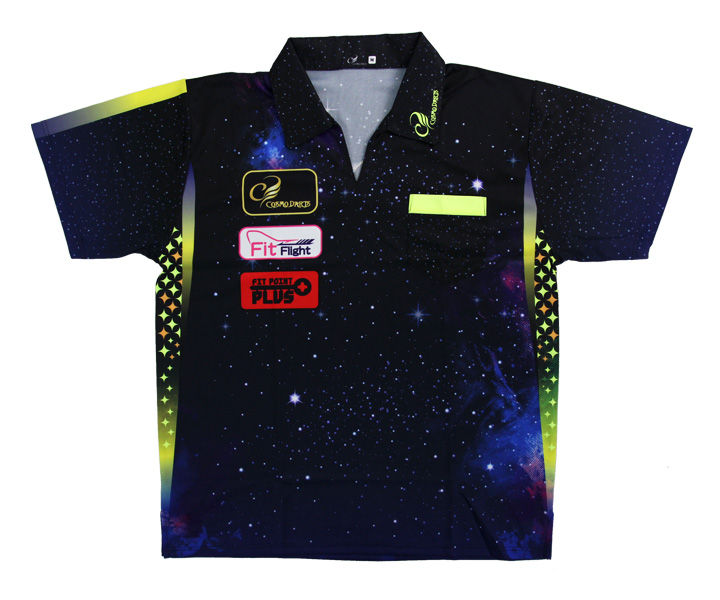 DARTS APPAREL【 COSMO DARTS 】DARTS SHIRT Galaxy Type Size