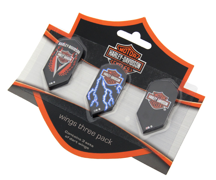 DARTS FLIGHT【 HARLEY-DAVIDSON 】Wings Three Pack of Flights Slim