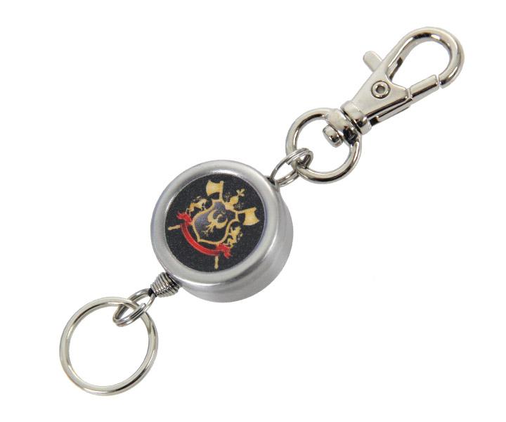 DARTS ACCESSORIES【S4】Reel Keyholder Twin Knight Emblem