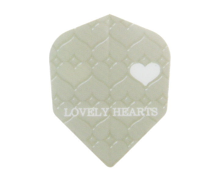 DARTS FLIGHT【 S4 】Lovely Hearts ivory