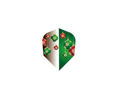 DARTS FLIGHT【 PRO 】Front Christmas Color Shape Green