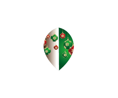 DARTS FLIGHT【 PRO 】Front Christmas Color Teardrop Green