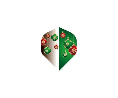 DARTS FLIGHT【 PRO 】Front Christmas Color Standard Green