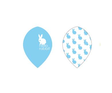 DARTS FLIGHT【 PRO 】Hello Rabbit Teardrop Blue