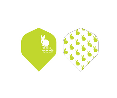 DARTS FLIGHT【 PRO 】Hello Rabbit Standard Green