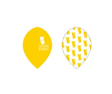 DARTS FLIGHT【 PRO 】Lovely Kitten Teardrop Yellow