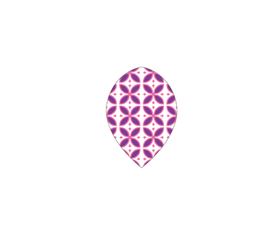 DARTS FLIGHT【 PRO 】Purple Pattern Teardrop