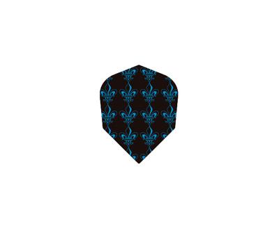 DARTS FLIGHT【 PRO 】Pattern Crest Shape ClearBlue