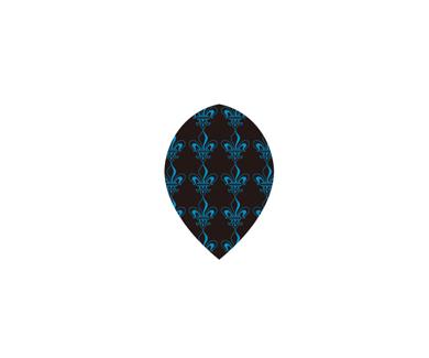 DARTS FLIGHT【 PRO 】Pattern Crest Teardrop ClearBlue