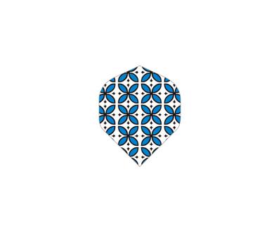 DARTS FLIGHT【 PRO 】Blue Pattern Standard