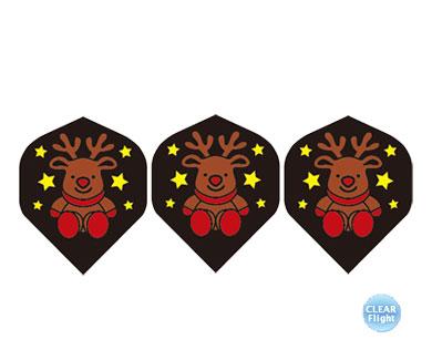 DARTS FLIGHT【 PRO 】Reindeersan BK Standard Clear