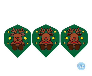 DARTS FLIGHT【 PRO 】Reindeersan Standard ClearGreen