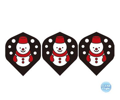 DARTS FLIGHT【 PRO 】Snowmansan BK Standard Clear