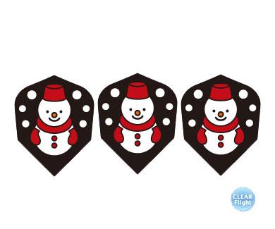 DARTS FLIGHT【 PRO 】Snowmansan BK Shape Clear