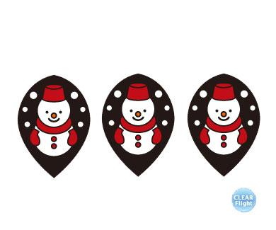 DARTS FLIGHT【 PRO 】Snowmansan BK Teardrop Clear