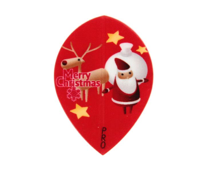 DARTS FLIGHT【 PRO 】Wood Santa Teardrop