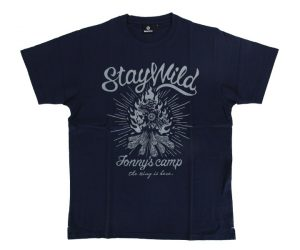 DARTS APPAREL【 SHADE 】Jonny's Camp T-shirts 安食賢一 Model navy
