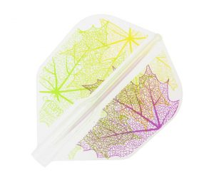 DARTS FLIGHT【Fit Flight AIR×Juggler】Leaf 2 Shape Clear