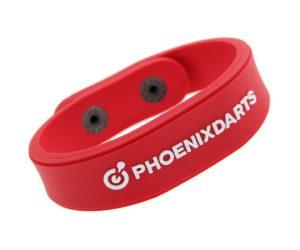 DARTS ACCESSORIES【PHOENIX】PHOENicA WristBand Standard Red&White