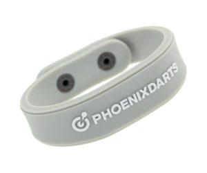 DARTS ACCESSORIES【PHOENIX】PHOENicA WristBand Standard Gray&White