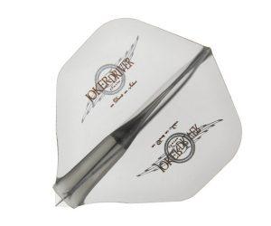 DARTS FLIGHT【JokerDriver】零-ZERO- Wing Logo Practice Standard Clear Black