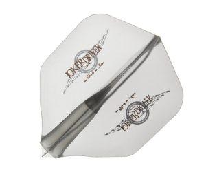 DARTS FLIGHT【JokerDriver】零-ZERO- Wing Logo Practice Shape Clear Black