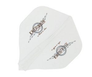 DARTS FLIGHT【 JokerDriver 】零-ZERO- Wing Logo Practice Standard Clear