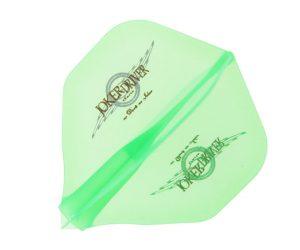 DARTS FLIGHT【 JokerDriver 】零-ZERO- Wing Logo Practice Standard Clear Green