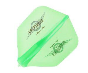 DARTS FLIGHT【JokerDriver】零-ZERO- Wing Logo Practice Shape Clear Green