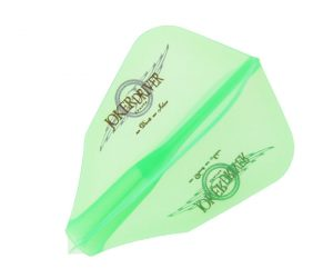 DARTS FLIGHT【 JOKER DRIVER 】零-ZERO- Wing Logo Practice FF Clear Green