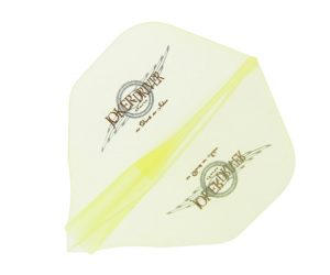 DARTS FLIGHT【 JOKER DRIVER 】零-ZERO- Wing Logo Practice Standard Clear Yellow