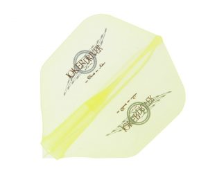 DARTS FLIGHT【JokerDriver】零-ZERO- Wing Logo Practice Shape Clear Yellow