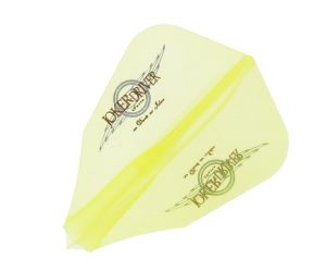 DARTS FLIGHT【 JOKER DRIVER 】零-ZERO- Wing Logo Practice FF Clear Yellow