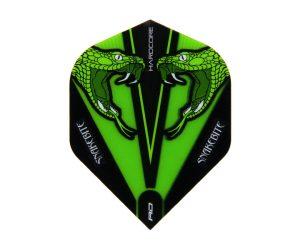 DARTS FLIGHT【RED DRAGON】Snakebite Peter Wright Model Hardcore Transparent Standard Green F6416