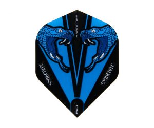DARTS FLIGHT【Red Dragon】Snakebite Peter Wright Model Hardcore Transparent Standard Blue F6417