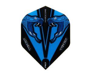 DARTS FLIGHT【RED DRAGON】Snakebite Peter Wright Model Hardcore Transparent Standard Blue F6417