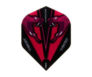 DARTS FLIGHT【Red Dragon】Snakebite Peter Wright Model Hardcore Transparent Standard Pink F6418