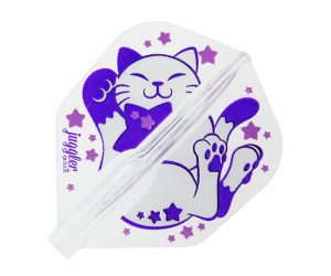 DARTS FLIGHT【Fit Flight AIR x JugglerQueen】COSMIC CAT Shape Clear