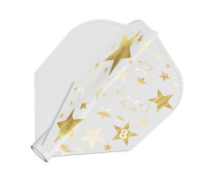 DARTS FLIGHT【8FLIGHT】Gold Star Shape White