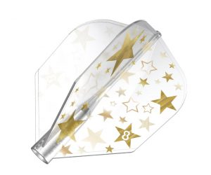 DARTS FLIGHT【8FLIGHT】Gold Star Shape Clear