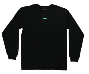 DARTS APPAREL【 COSMO DARTS 】FRUITS OF THE LOOM Long sleeve shirt Box logo Black
