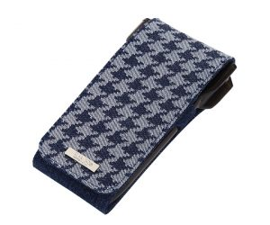 DARTS CASE【CAMEO】SKINNY LIGHT Indigo Hound tooth