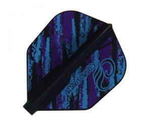 DARTS FLIGHT【Fit Flight】Design Contest Purple & Blue Pattern Shape